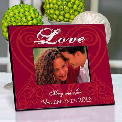 Personalized Love and Roses Picture Frame