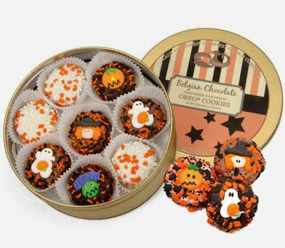 Halloween Oreos cookie Tin